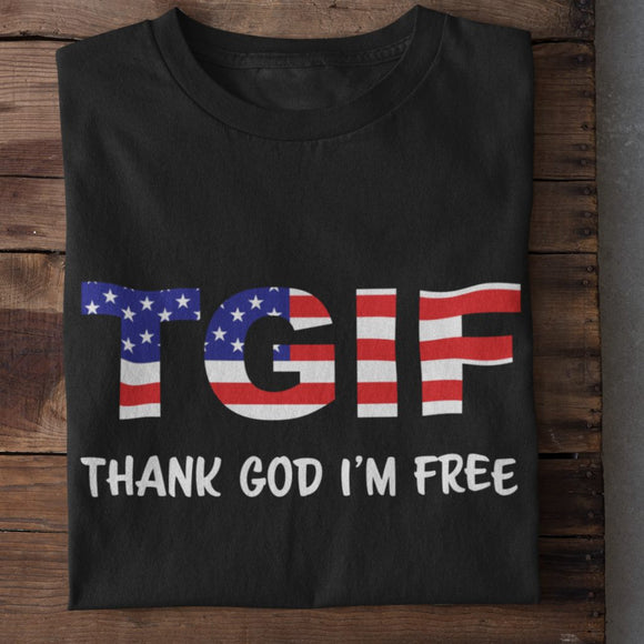 T.G.I.F. Thank God I'm Free Unisex Heavy Cotton T-shirt