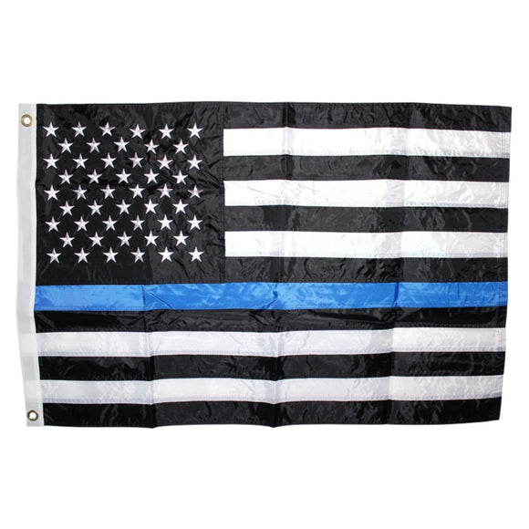 Thin Blue Line American 3'x5' Rough Tex® Flag