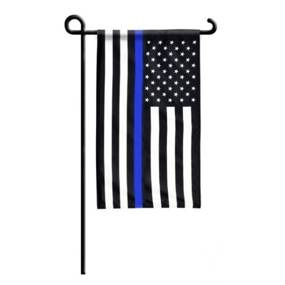 Thin Blue Line USA Rough Tex® Garden Flag