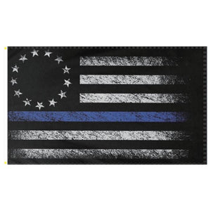 Thin Blue Line Betsy Ross Distressed 3'x5' 100D Rouogh Tex® Flag