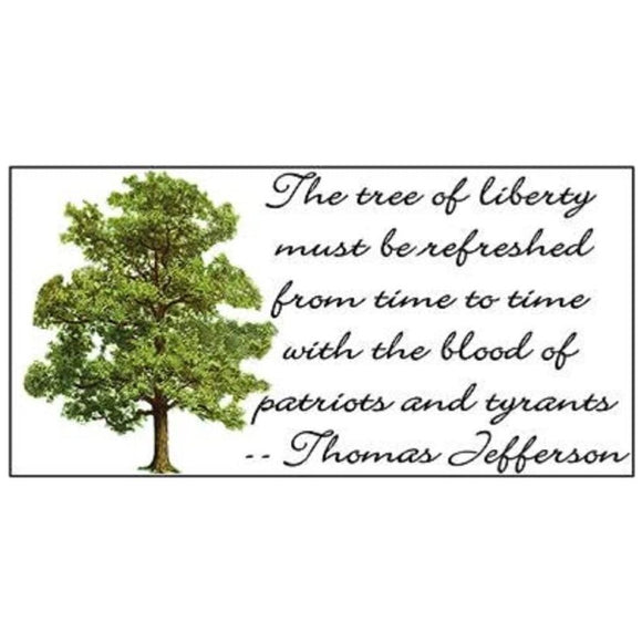 Tree of Liberty Weatherproof Bumper Sticker