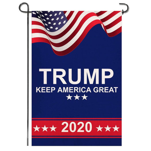 USA Trump 2020 Keep America Great America 100D Garden Flag