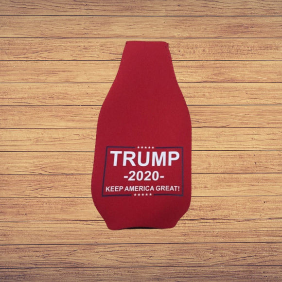 Trump 2020 Keep America Great Bottle Koozie (Red)