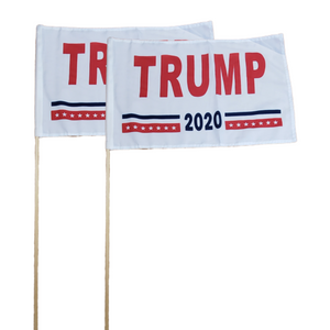 "Trump 2020 12x18"" Stick Flag (2 Pack)"