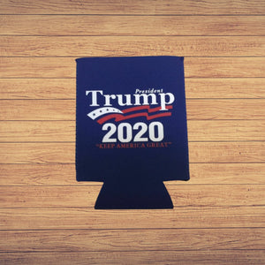 "Trump 2020 ""Swoop Flag"" Keep America Great Koozie (Bue)"