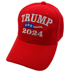 Trump 2024 Red Custom Embroidered Hat