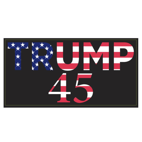 Stars and Stripes Trump 45 Weatherproof Bumper Sticker