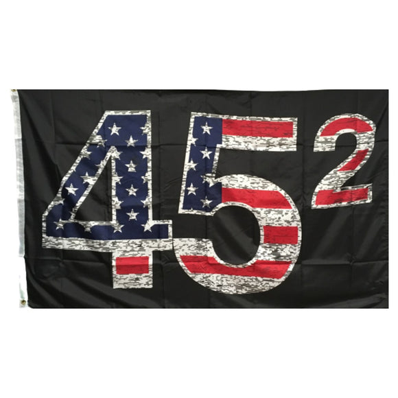 Trump 45 (Squared) Distressed 3'x5' 100D Rough Tex® Flag