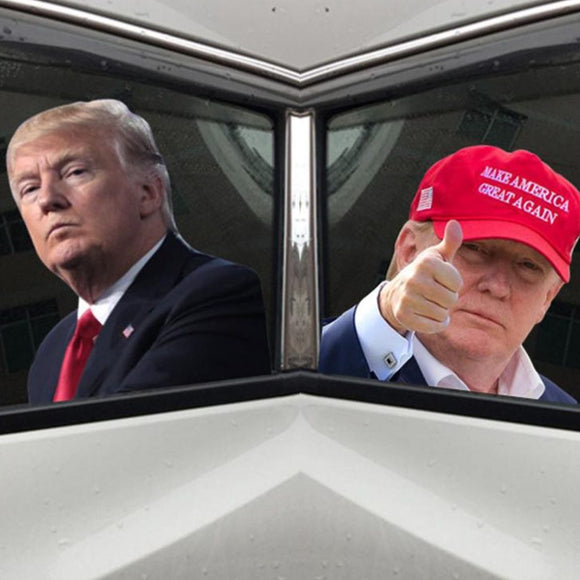 Trump Waterproof Transparent Auto Glass Decals (2 Styles)
