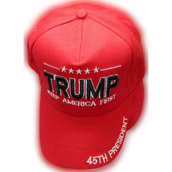 Trump Keep America First 45th President Embroidered Hat and Bill