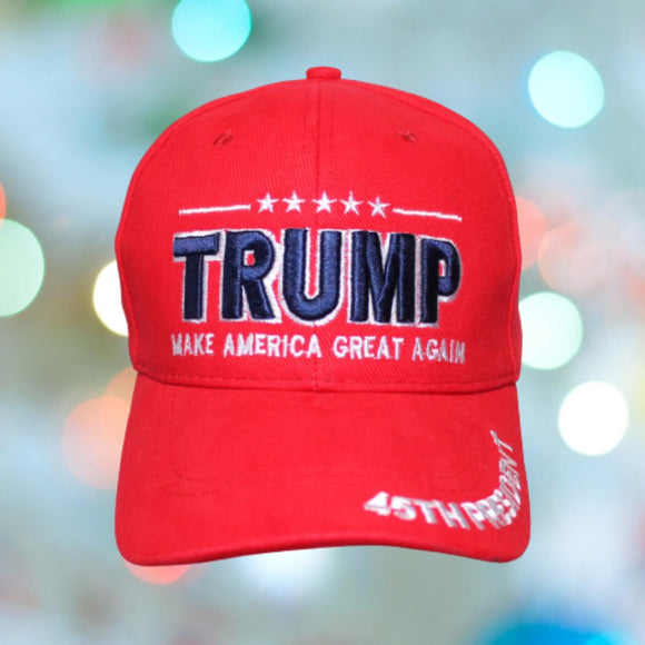 Trump Make America Great Again 45th President Embroidered Hat & Bill
