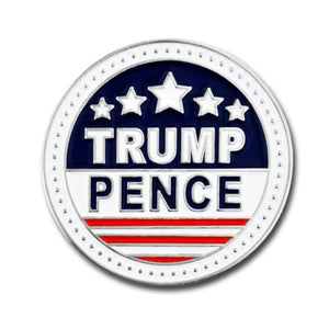 Trump and Pence Nickel Plated Keepsake Lapel Pin
