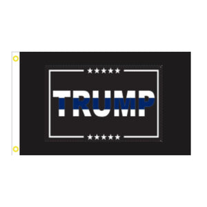 Trump Blue Line 3'x5' 100D Rough Tex® Flag
