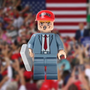 Limited Edition Trump Mini-figure Grey Suit with MAGA Hat