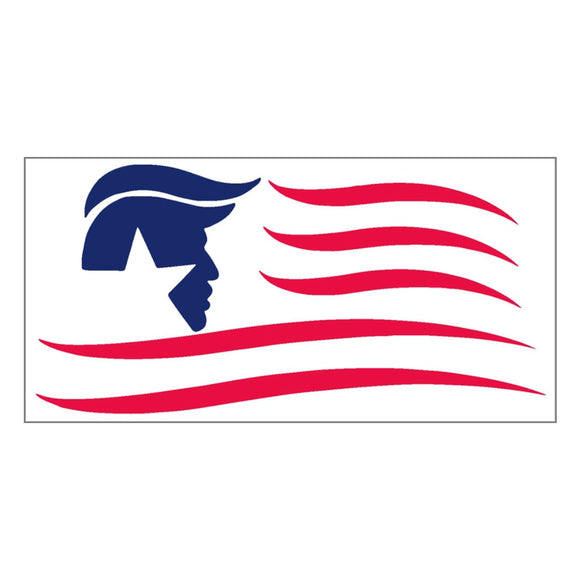 Trump Silhouette Flag Patriotic Sticker