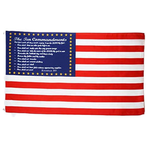 USA Ten Commandments 3'x5' 100D Rough Tex® Flag
