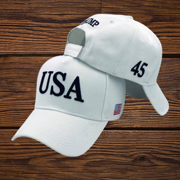 USA Trump 45 100% Cotton Twill Hat