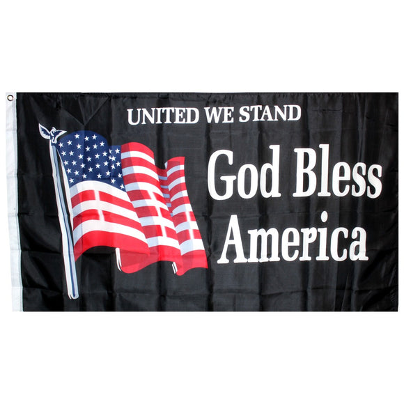 United We Stand God Bless America 3'X5' 100D Rough Tex® Flag