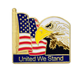 United We Stand Lapel Pin (Gold Plated)