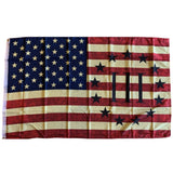 Vintage American Flag with III Percenter 100D 3'X5' Rough Tex® Flag