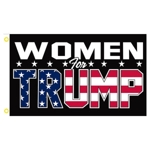 Women for Trump (Patriotic Design) 3'x5' 100D Rough Tex® Flag