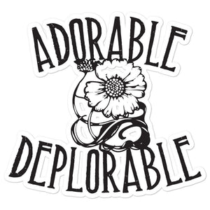 Adorable Deplorable Bubble-free stickers - Flag and Cross