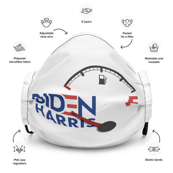 Biden Harris Fuel Gauge Premium Face Mask