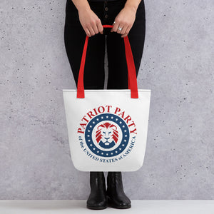 Patriot Party Lion Tote bag