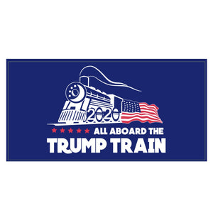 All Aboard the Trump Train Weatherproof Sticker (Blue)