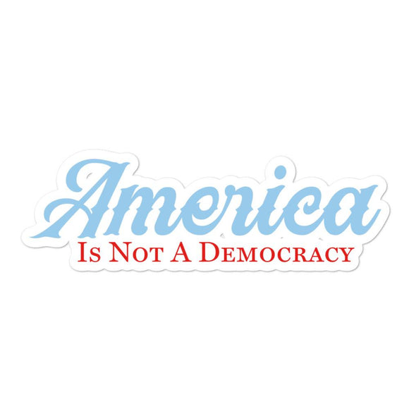 America Is Not A Democracy Bubble-free stickers - Flag and Cross