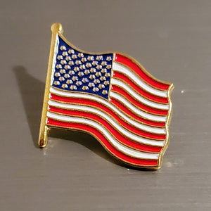 United States American Flag Gold Plated Pin