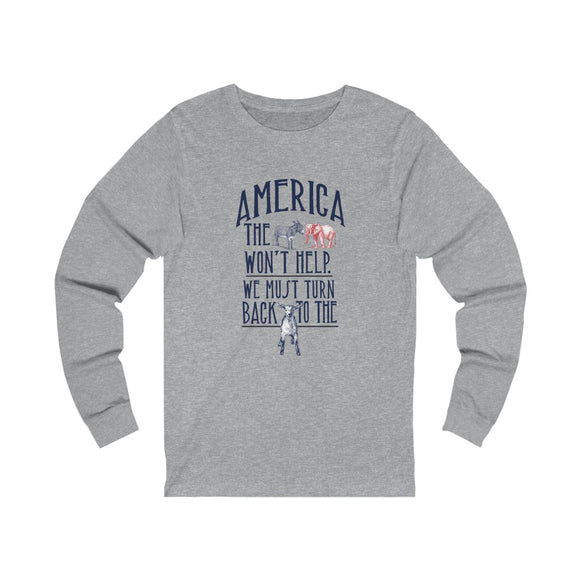 America Must Turn Back to the Lamb Unisex Long Sleeve T-shirt (3 Colors)
