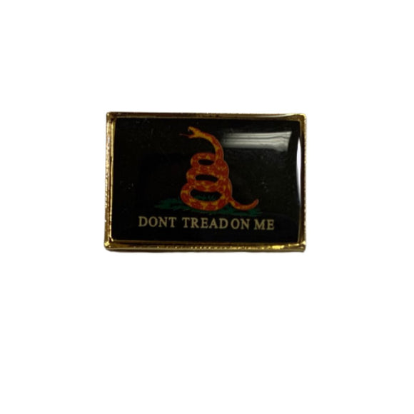 Don't Tread on Me Lapel Pin (Black)
