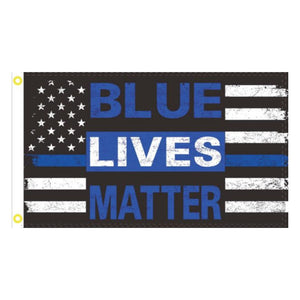 Blue Lives Matter 3'x5' 100D Rough Tex® Flag