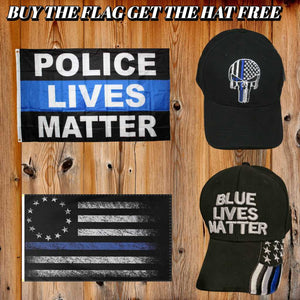 Buy 1 Get 1 Free Police Flag-Hat Combo