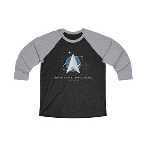 Space Force Unisex Tri-Blend 3/4 Raglan Tee
