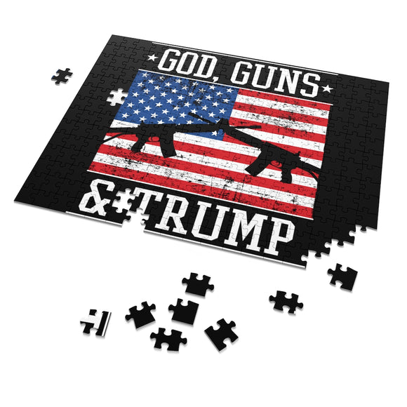 God Guns and Trump 252 Piece Puzzle