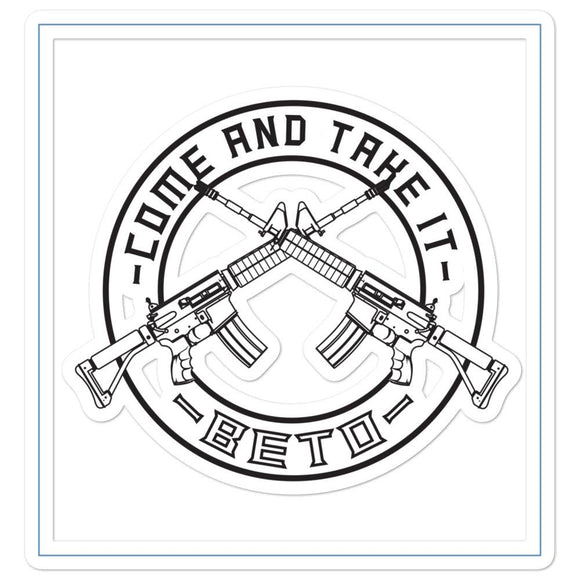 Come And Take It Beto Circle sticker - Flag and Cross