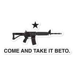 Come And Take It Beto sticker - Flag and Cross