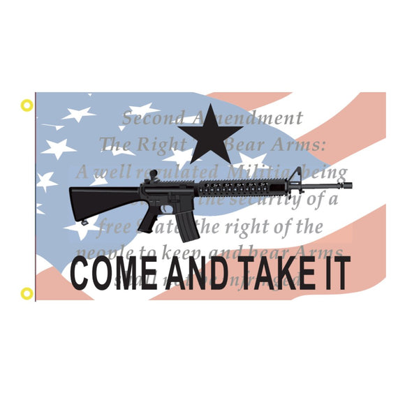 Come and Take It: Right to Keep & Bear Arms 3'x5' 100D Rough Tex® Flag