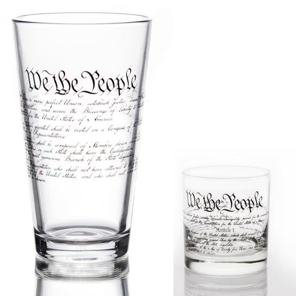 U.S. Constitution Glasses (2 Styles) Made in the USA