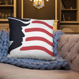 Custom Trump Flag and Star Design Basic Pillow - Flag and Cross