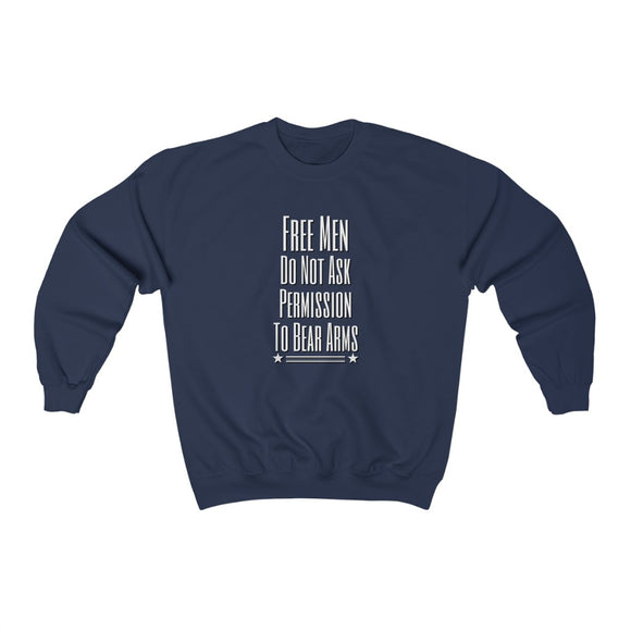 Free Men do Not Ask Permission to Bear Arms Unisex Heavy Blend™ Sweatshirt
