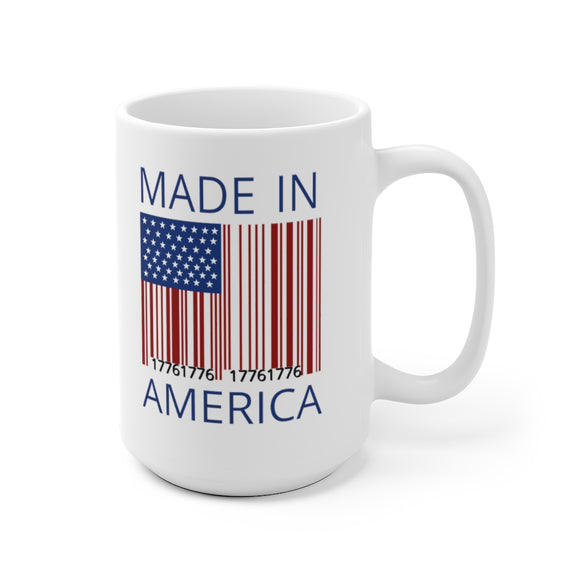 Made in America 1776 Barcode Ceramic Mug (11oz or 15oz)