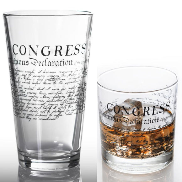 Declaration of Independence Glasses (2 Styles) Made in the USA