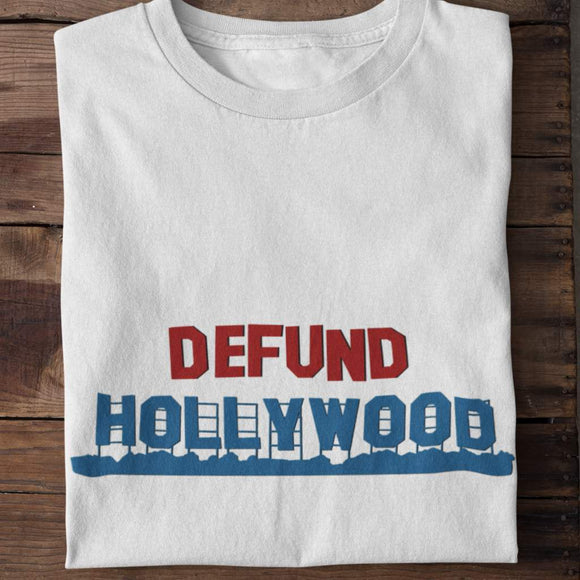 Defund Hollywood Unisex Cotton T-shirt