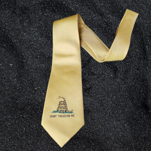 Gadsden Snake Neck Tie (Single Snake Design)