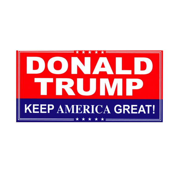 Donald Trump Keep America Great Sticker - Flag and Cross