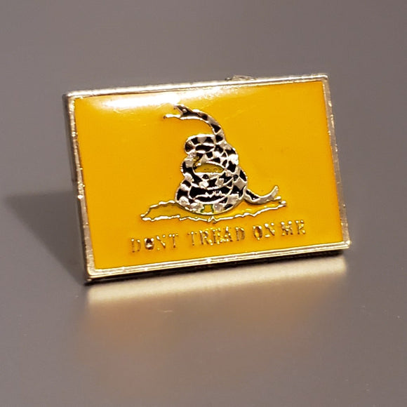 Don't Tread on Me Traditional Gadsden Lapel Pin (Rectangle)