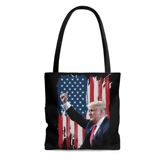 President Trump American Flag Tote Bag